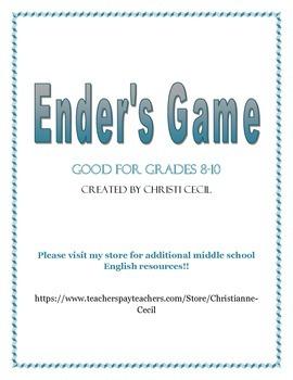 Ender's Game Novel Unit