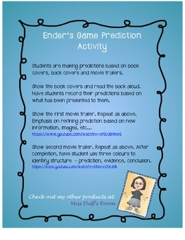 Ender's Game Prediction Activity