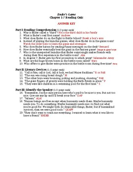 Ender's Game Quiz Ch. 1-7