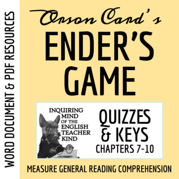Ender's Game Quiz (Chapters 7-10)