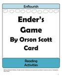 Ender's Game by Orson Scott Card Activities Unit Plan