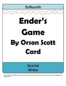 Ender's Game by Orson Scott Card Journal Unit Plan