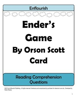Ender's Game by Orson Scott Reading Comprehension Questions Unit Plan