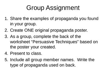Ender's Game novel- Propaganda Assignment
