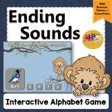Ending Letter Sounds Interactive Alphabet Game {Dancing Monkey}