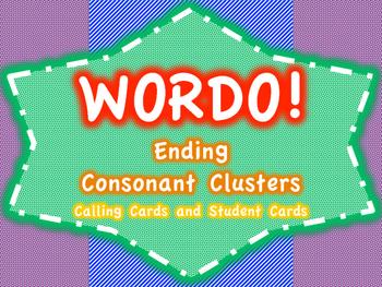 Ending Consonant Cluster WORDO (Bingo Game)