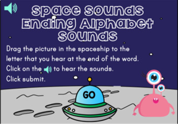 Ending Alphabet Sounds Digital Boom Task Cards