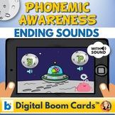 Ending Alphabet Sounds Digital Boom Task Cards