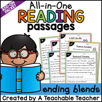 Ending Blends Reading Passages   All-in-One Phonics Reading Passages