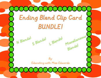 Ending Blend Clip Card Bundle