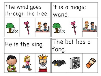 Ending Blend Sentences Read & Clip Cards