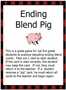 Ending Blend and Digraph Pig Games