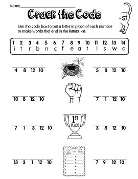 5 letter words ending in ct ending blends worksheets by broken crayon teachers pay 16412