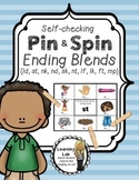 Ending Blends - Self-Checking Phonics Centers