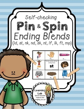 Ending Blends - A Pin & Spin Activity