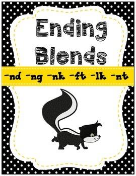 Ending Blends Activities { nk, ng, nd, lk, ft, nt} CCSS (QR Codes)