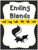 Ending Blends Activities { nk, ng, nd, lk, ft, nt} CCSS (Q