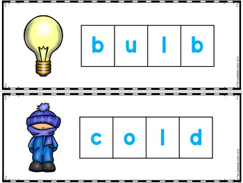 Ending Blends Activity (Build a Word)