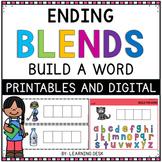 Ending Blends Activity (Build a Word)
