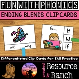 Blends Activities: Ending Sounds Clip Cards