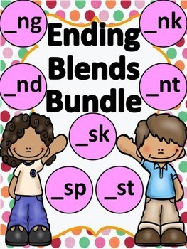 Ending Blends Bundle Letters S and N with phonics picture cards!