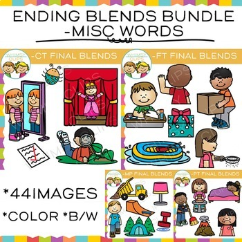 5 letter words ending in ct ending blends clip bundle mp ct ft pt words by 16412