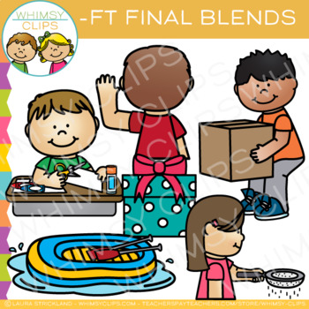 Ending Blends Clip Art - FT Words