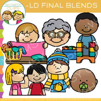 Ending Blends Clip Art  - LD Words