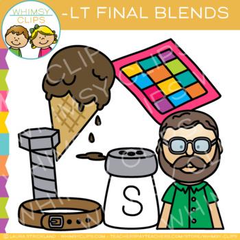Ending Blends Clip Art - LT Words