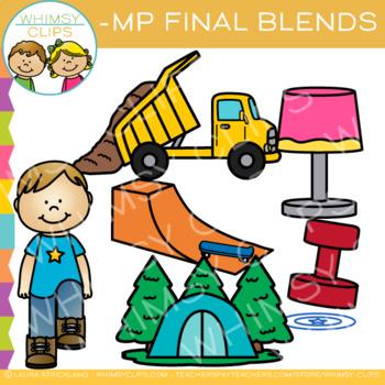Ending Blends Clip Art - MP Words