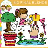 Ending Blends Clip Art - ND Words