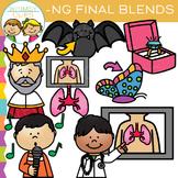 Ending Blends Clip Art - NG Words
