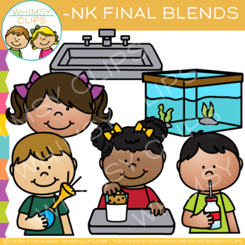 Ending Blends Clip Art - NK Words
