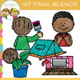 Ending Blends Clip Art - NT Words