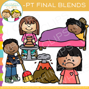 Ending Blends Clip Art - PT Words