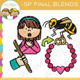 Ending Blends Clip Art - SP Words