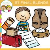 Ending Blends Clip Art: ST Words Clip Art
