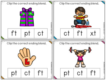 Ending Blends Activity (Clip Cards)