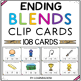 Ending Blends Activity (Clip Cards)