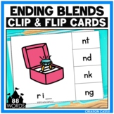 Ending Blends Clip Cards Center