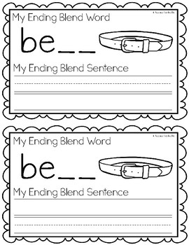 Ending Blends {FT, LP, LT, MP} Writing Book
