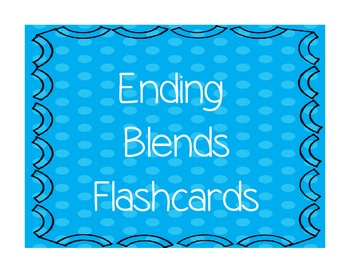 Ending Blends Flashcards