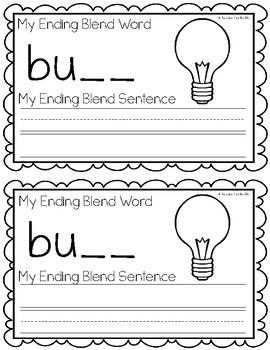 Ending Blends {LB, LD, LK, LM} Writing Book