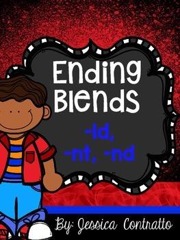 Ending Blends {LD, NT, ND} No Prep Printables