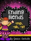 Ending Blends {MP, SK, ST} No Prep Printables
