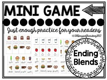 Ending Blends Phonics Game