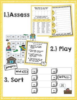 Ending Blends Phonics Game and Word Sort