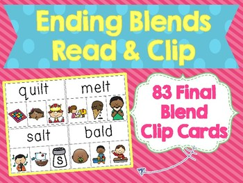 Ending Blends Read & Clip Cards