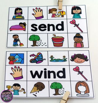 Ending Blends Read and Clip Cards