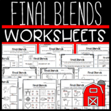 Final Blends Worksheets: Sorts, Cloze, Stories, and More